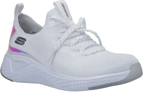 Skechers Solar Fuse Gravity Experience Ladies Sports White / Silver